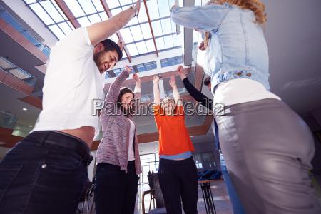 happy students celebrate