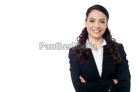 confident smiling business woman posing