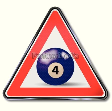 shield violette pool billiard ball number