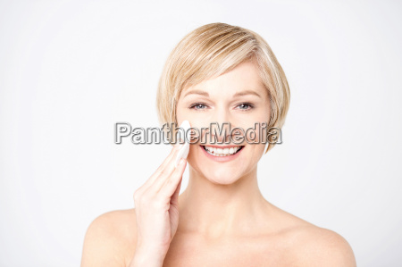 beauty makeup caucasian woman