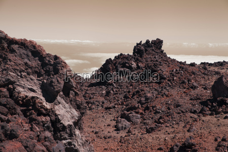 dramatic surface of red planet mars