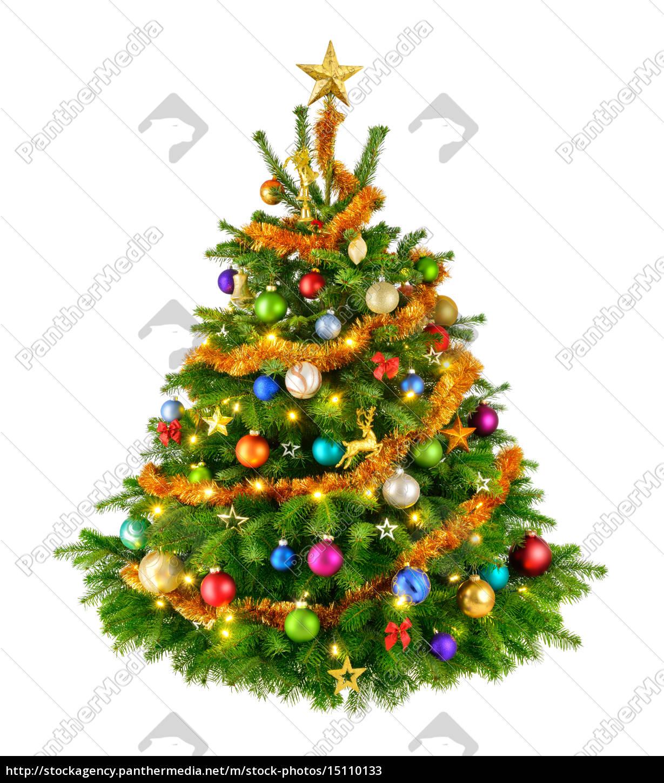 perfekter bunter weihnachtsbaum stockfoto 15110133. Black Bedroom Furniture Sets. Home Design Ideas