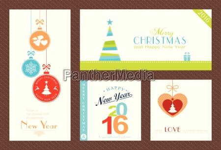 set von flachen weihnachten und neujahr