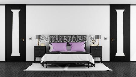 schwarz weiss klassiker schlafzimmer