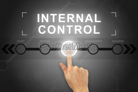 hand clicking internal control button on