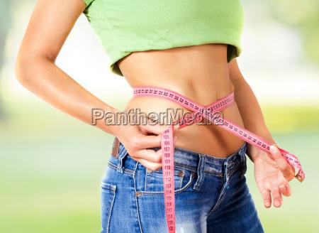 measuring perfect slim healthy fitness waist