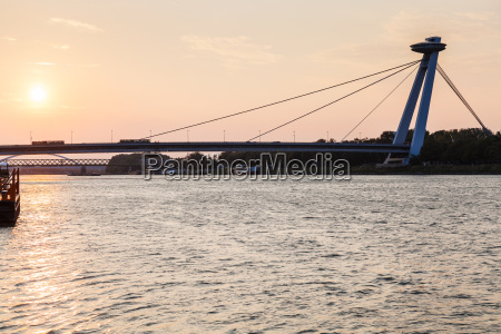 snp bridge across danube river in