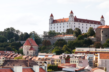 view of bratislava castle from old