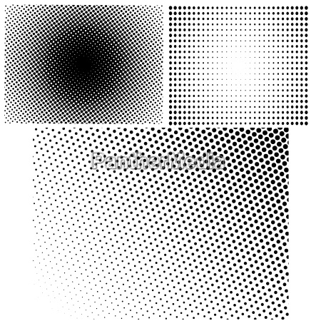 halftone patterns set of halftone