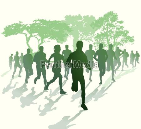 marathonlauf im park