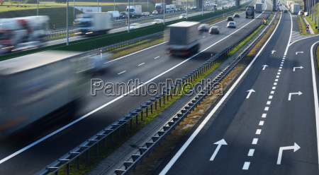 four lane controlled access highway in