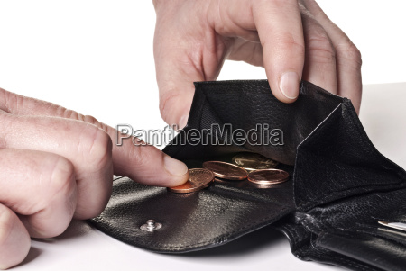 small money in the purse