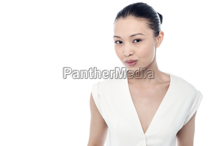 facial expression by a young woman