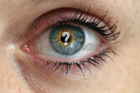 auge mit fragezeichen in der pupille