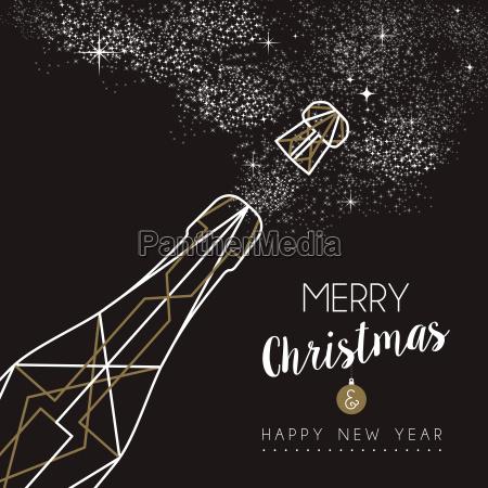 frohe weihnachten glueckliches neues jahr deco