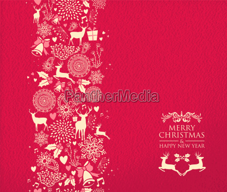merry christmas happy new year pattern