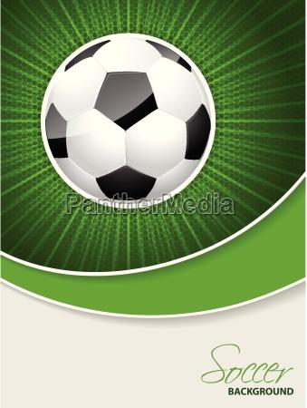 abstrakte fussballbroschuere mit platzendem ball