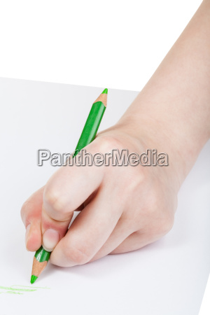 hand drafts by green pencil on