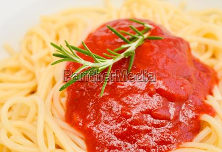 close up of spaghetti