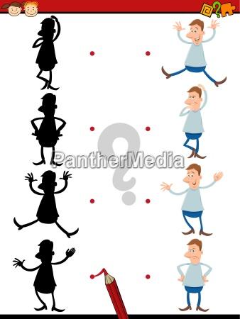 shadow task for preschoolers