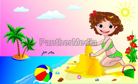 ein kind am strand
