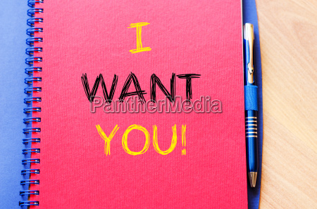 i want you write on notebook