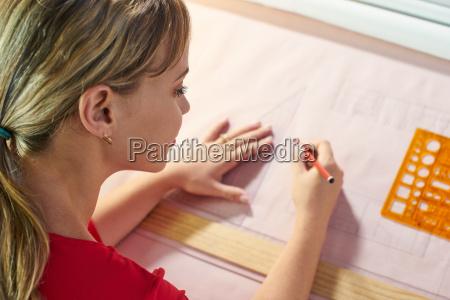 4 architect student doing college homework