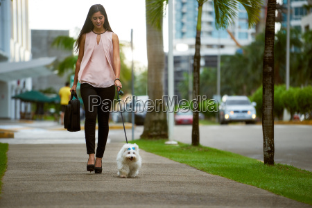 businesswoman commuting to office with her