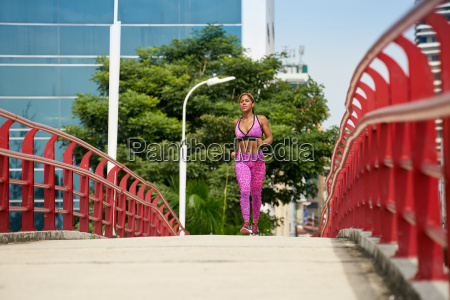 woman running and working out at