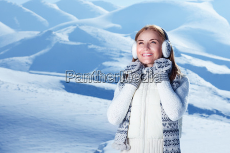 wintertime woman portrait