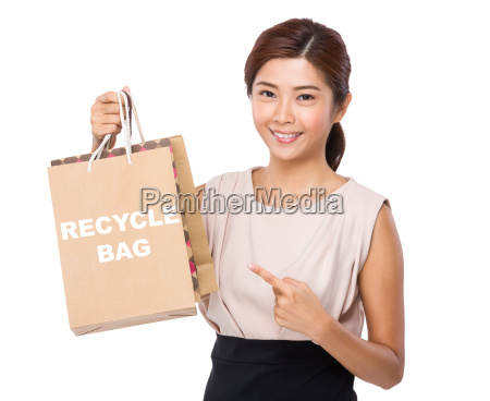 asian woman finger point to shopping
