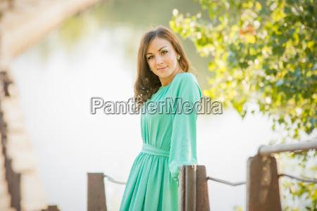 portrait of slender beautiful girl on