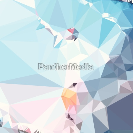 air superiority blue abstract low polygon