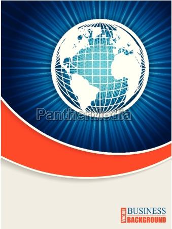 bursting globe brochure design