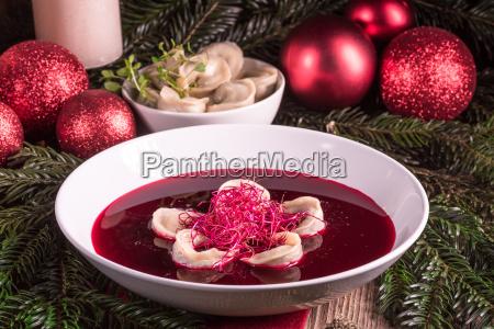 red borscht soup