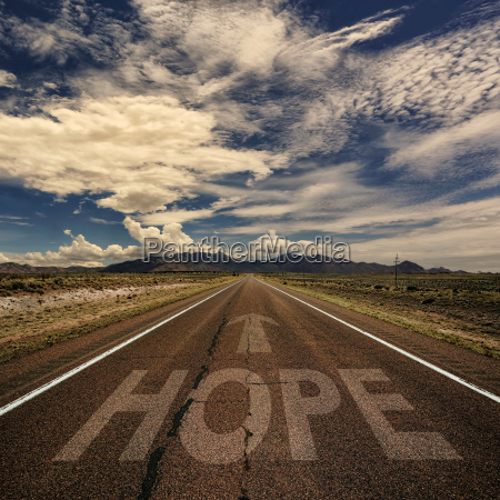 konzeptuelles bild von road with the