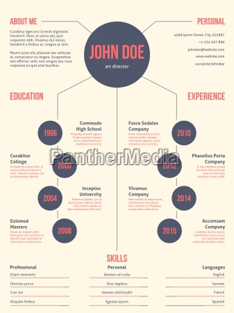 simpel aber coolen modernen resume cv