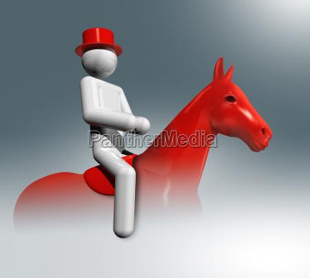 equestrian dressage 3d symbol olympische sportarten
