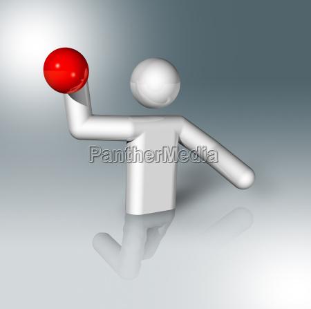 wasser polo 3d symbol olympische sportarten