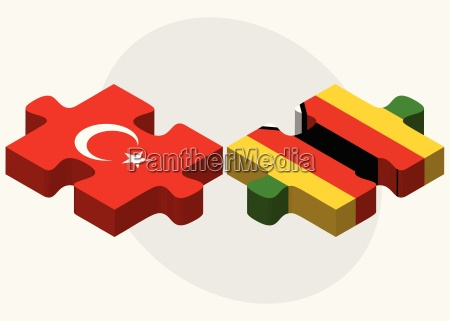 flaggen der tuerkei und simbabwes