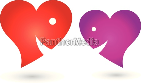 two hearts with smilelogo