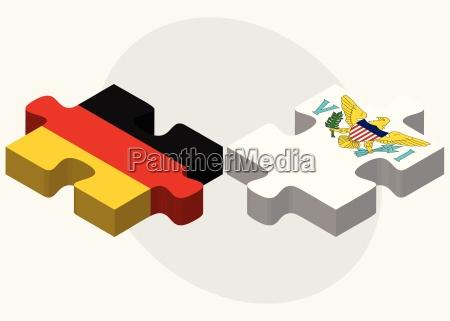 deutschland und virgin islands us flaggen