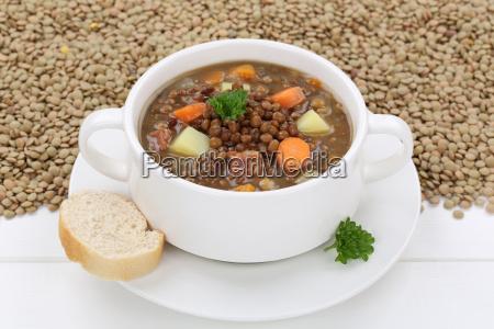 lentil soup with fresh lentil soup