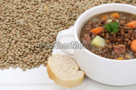 lentil soup with many lentils and