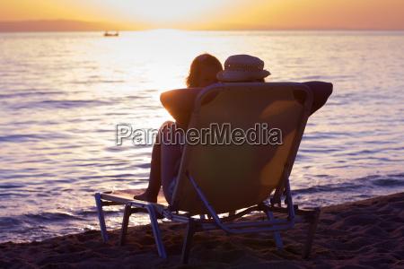 entspannung auf dem strand