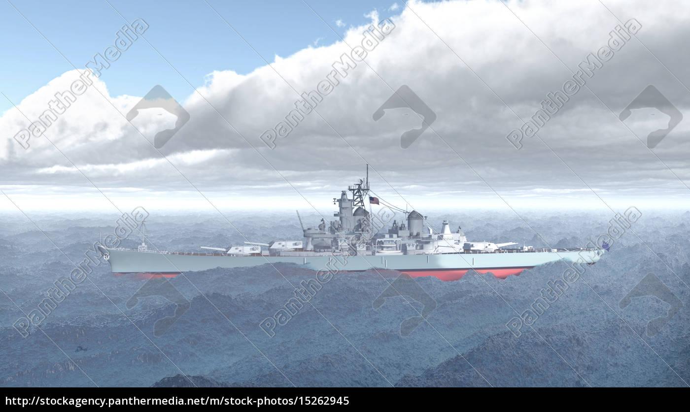 Amerikanisches Schlachtschiff aus dem Zweiten Weltkrieg ...
