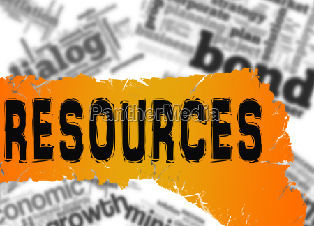 word cloud with resources word on