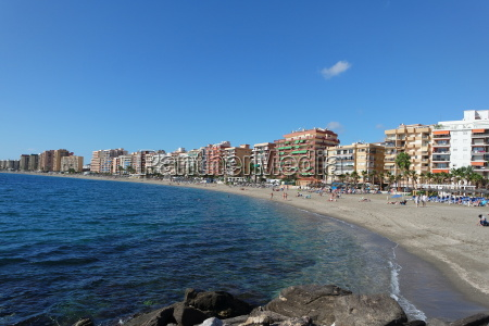 strand in fuengirola andalusien