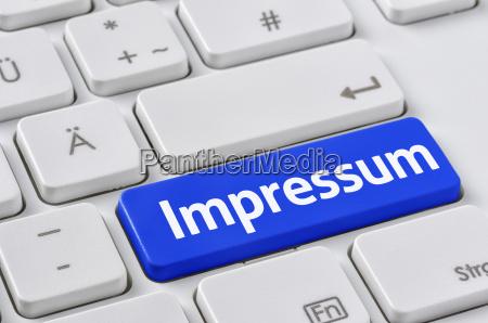 tastatur mit farbiger taste impressum