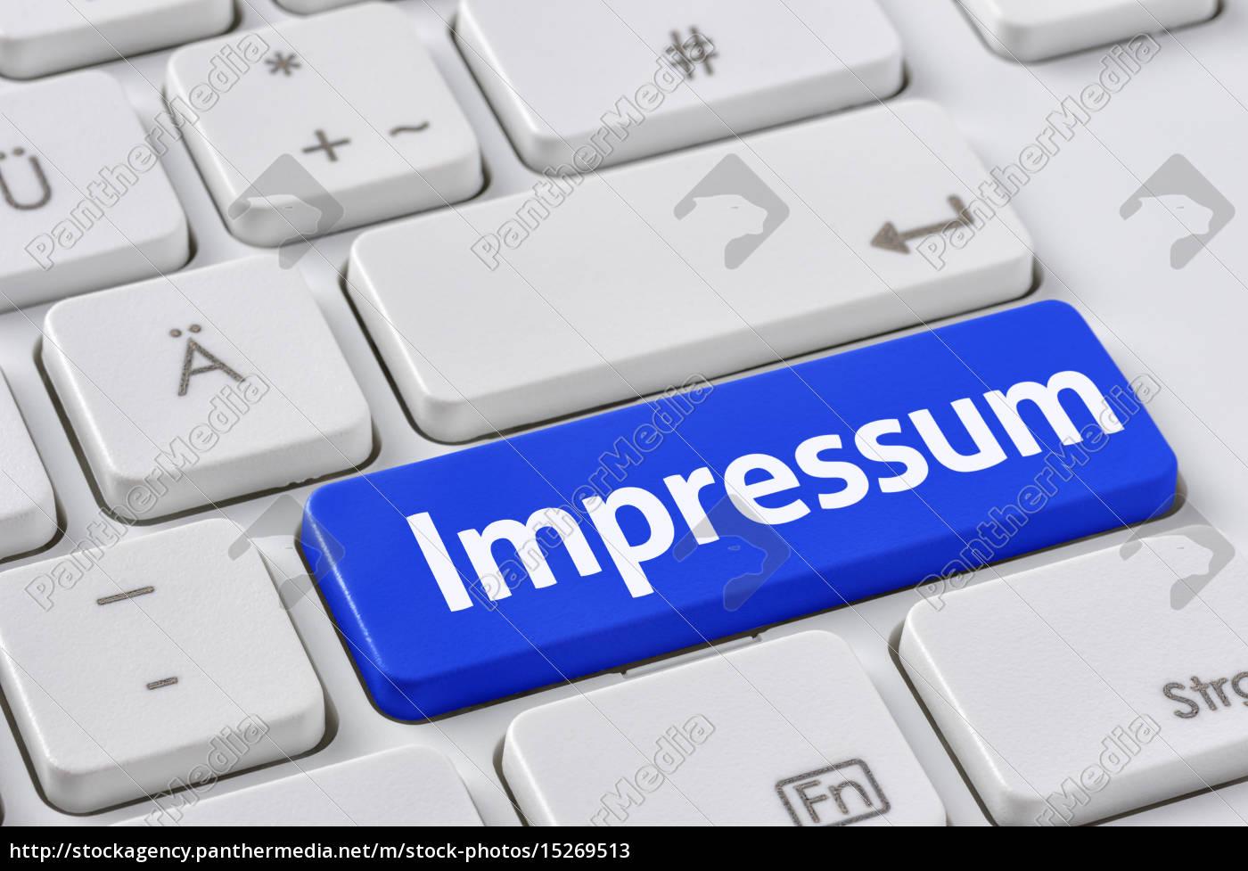 tastatur, mit, farbiger, taste, -, impressum - 15269513